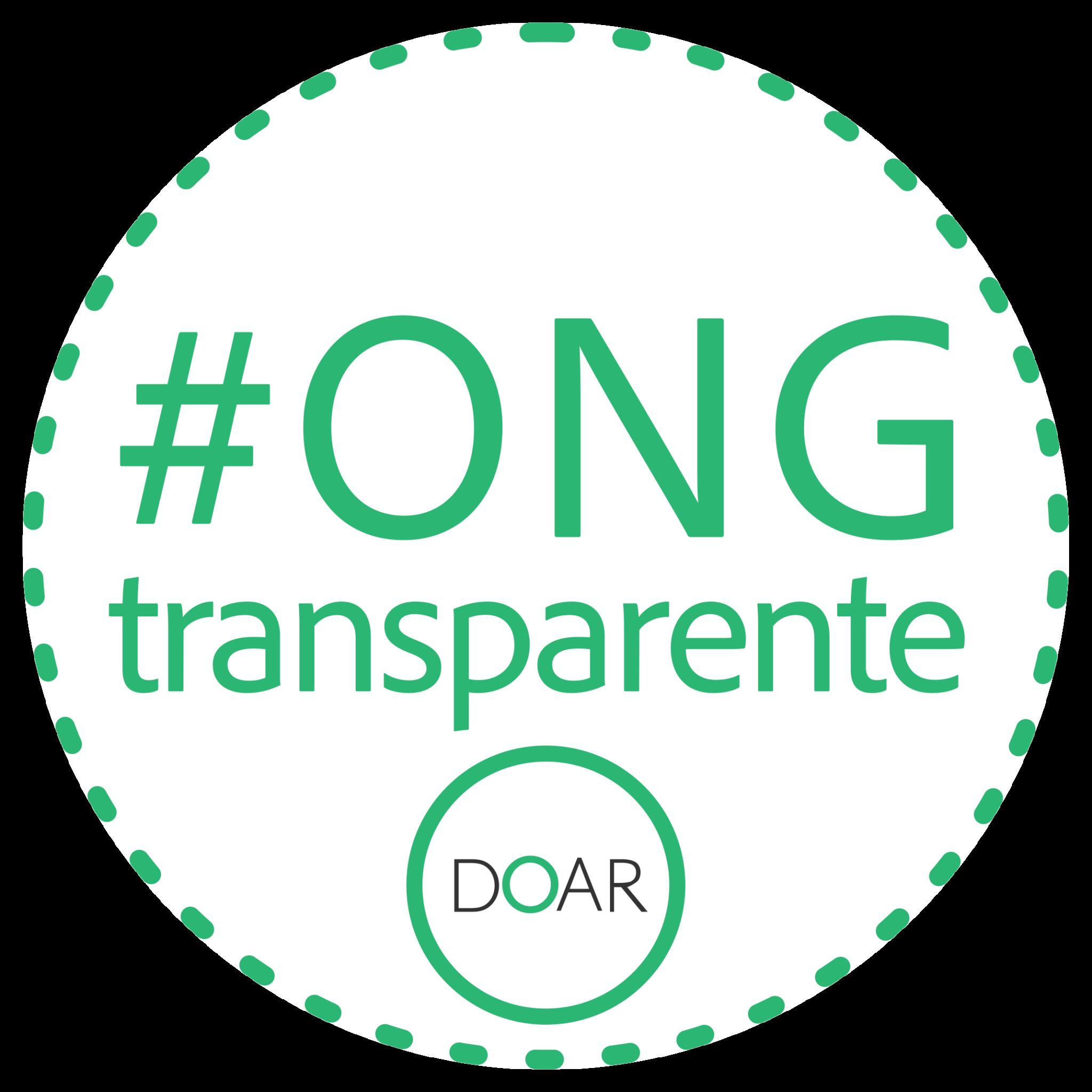 Selo ONG Transparente pelo Instituto Doar