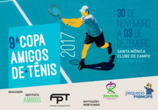 9ª Copa Amigos de Tênis tem renda revertida ao Instituto Unidos pela Vida