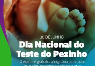 06 de junho: Dia Nacional do Teste do Pezinho. Conheça a importância do exame