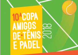 Vem aí a 10º Copa Amigos de Tênis e Pádel. Participe!