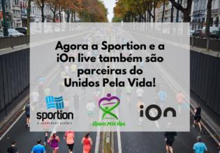 Sportion e iOn live tornam-se parceiras oficiais do Unidos Pela Vida!