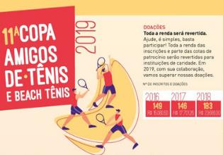Participe da 11º Copa Amigos de Tênis e Beach Tênis