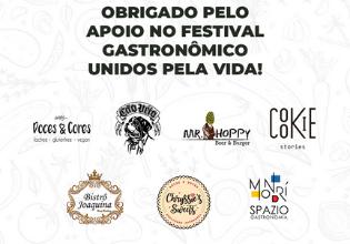 A primeira edição do Festival Gastronômico Unidos pela Vida foi um sucesso!