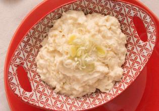 Purê de batatas com alho poró (Fortini)