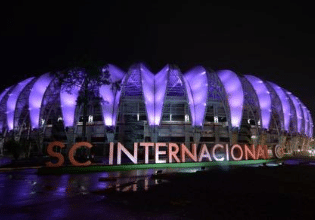 Estádio Beira-Rio em Porto Alegre será iluminado de roxo em alusão ao Mês da Fibrose Cística