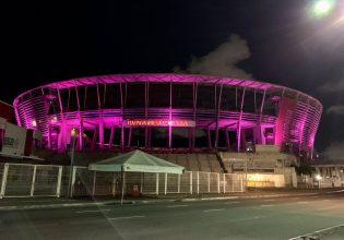 Arena Fonte Nova em Salvador/BA é iluminada de roxo em alusão ao Setembro Roxo 2021