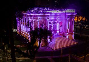 Câmara Municipal de Curitiba/PR é iluminada de roxo em alusão ao Setembro Roxo 2021
