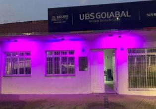 Unidades Básicas de Saúde em São José/SC são iluminadas de roxo em alusão ao Setembro Roxo 2021